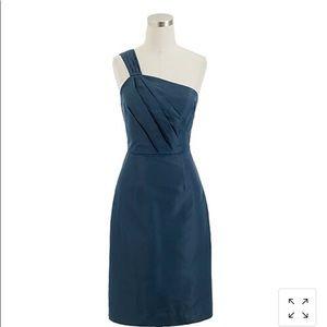 J. Crew Petite one Shoulder Silk Dress NWT P4